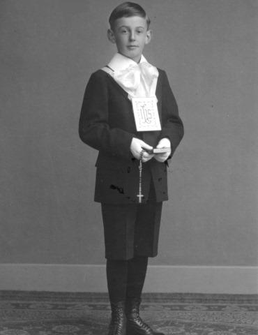 Artur Beul bei der Erstkommunion 1925