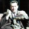 Artur Beul mit seinen 2 Schlangen (1959)
