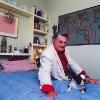 Artur in der Ferien-Wohnung im Tessin, 1986