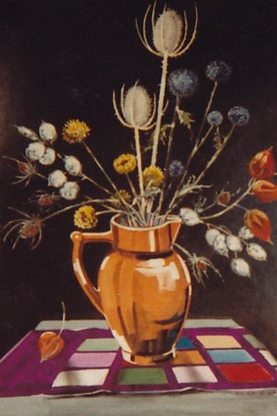 Trockenblumen in Vase, Artur Beul (1982)