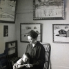 Artur Beul mit Mamma in Papas Maler Atelier