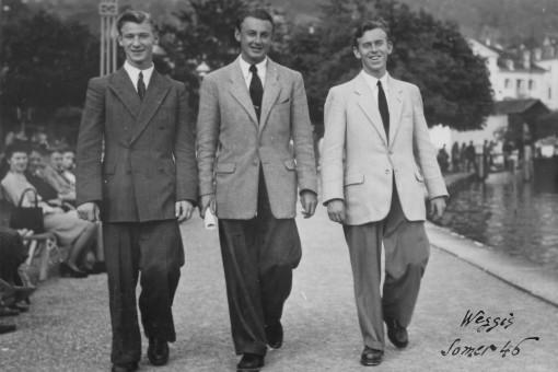 Willi Schmid, Artur Beul und Werner Schmid