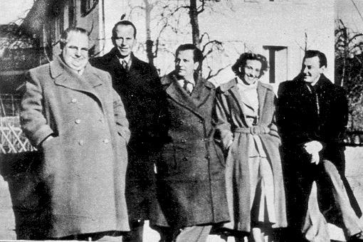 Ludwig Schmidseder, Rolf Marbot, Ralph-Maria Siegel, Lale Andersen und Artur