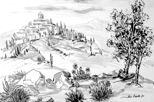 Provenzialisches Dorf, 1970