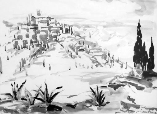 Provenzialisches Dorf (1967)