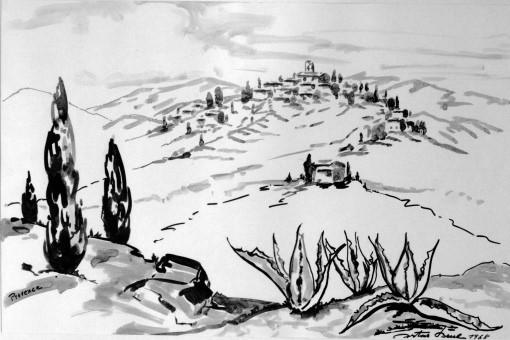 Provenzialisches Dorf, 1968
